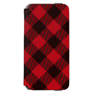 Buffalo Red and Black Plaid Check Lumberjack Incipio Watson™ iPhone 6 Wallet Case