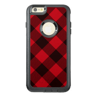 Buffalo Red and Black Plaid Check Lumberjack Patte OtterBox iPhone 6/6s Plus Case