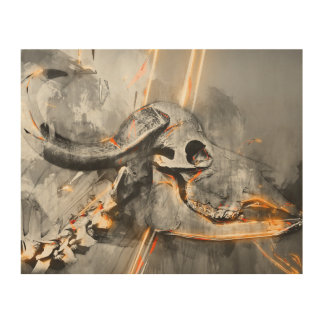 Buffalo skull art - Wall art print