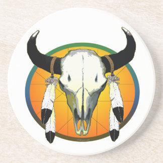 buffalo skull coaster