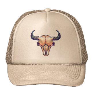 Buffalo Skull Painting Cap