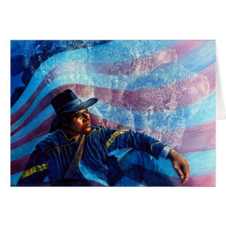 Buffalo Soldier by Kathy Morrow Greeting Card