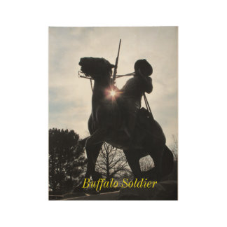 Buffalo Soldier Wood Poster