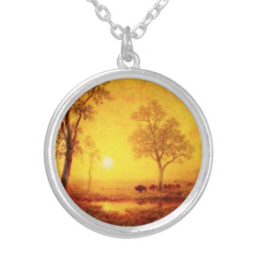 Buffalo Sunset on the Mountain Necklace