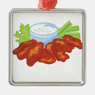 Buffalo Wings Metal Ornament