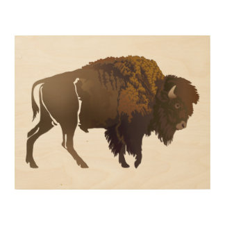 Buffalo Wood Wall Art