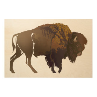 Buffalo Wood Wall Decor