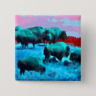 Buffaloes 15 Cm Square Badge
