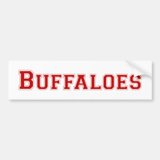 Buffaloes square logo in red bumper stickers