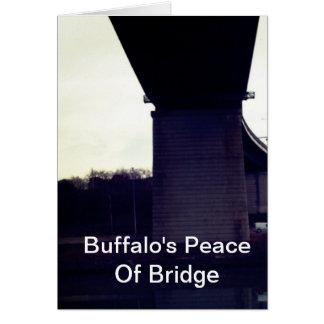 Buffalo's Peace Of Bridge Greeting Card