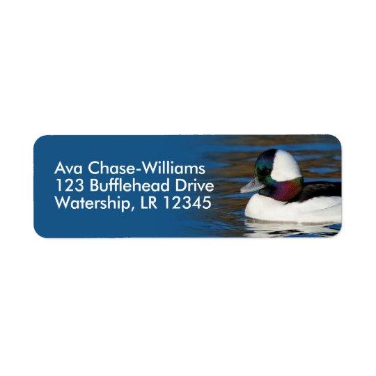 Bufflehead Drake at the Pond Return Address Label