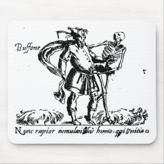 Buffoon and Death Mouse Pad