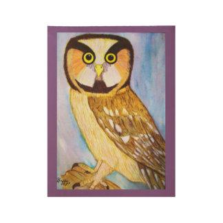 Buffy Owl Wooden Print