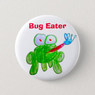 Bug Eater 6 Cm Round Badge