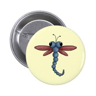 Bug-eyed Dragonfly 6 Cm Round Badge