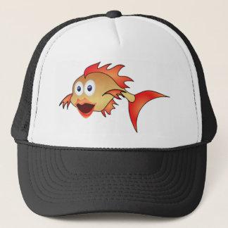 bug eyes fish trucker hat