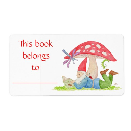 Bug Gnome book label
