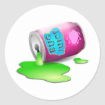 Bug Juice Round Stickers