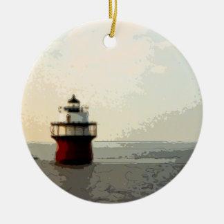 Bug Light Duxbury Pier Lighthouse Ceramic Ornament