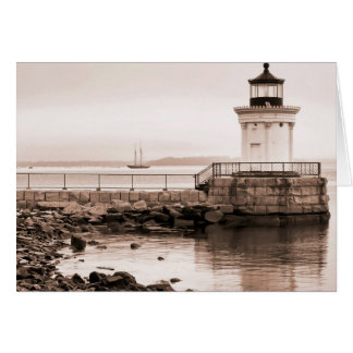Bug Light, Portland Breakwater Light Card