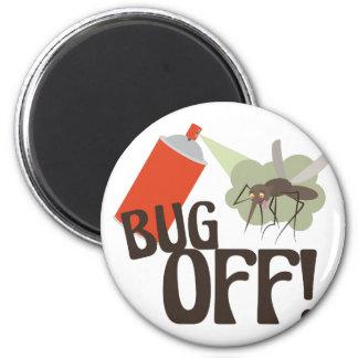 Bug Off! 6 Cm Round Magnet
