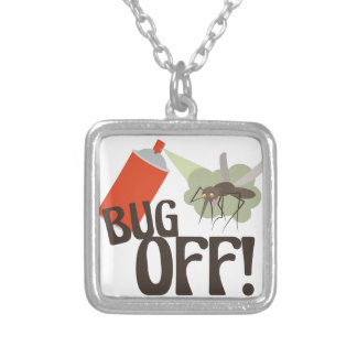 Bug Off! Silver Plated Necklace