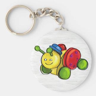 Bug pull toy keychain
