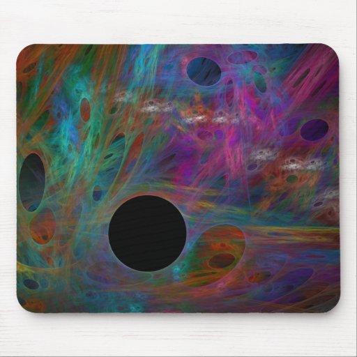 Bug Rainbow Holes Mouse Pad