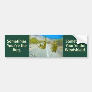 Bug vs. Windshield Bumper Sticker