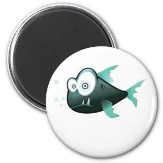 bugged eyed crazy fish magnet