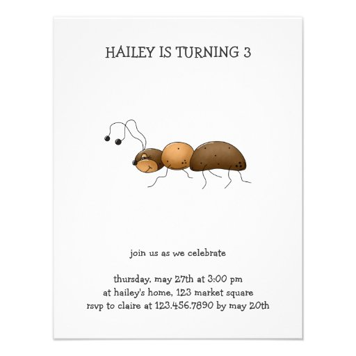 Buggin' You Again · Brown Ant Personalized Invitations