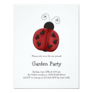 Buggin' You Again · Ladybug 11 Cm X 14 Cm Invitation Card