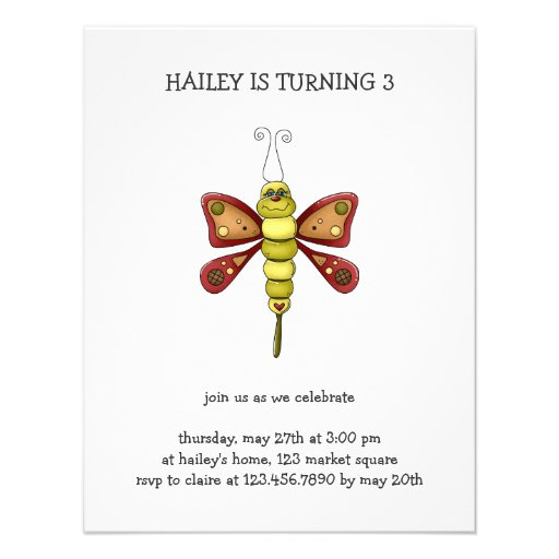 Buggin' You Again · Maroon & Green Butterfly Custom Invites