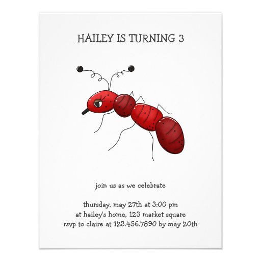 Buggin' You Again · Red Ant Invitations
