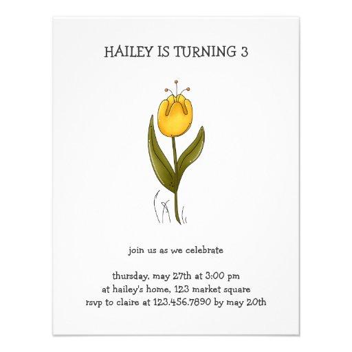 Buggin' You Again · Yellow Tulip Personalized Invite