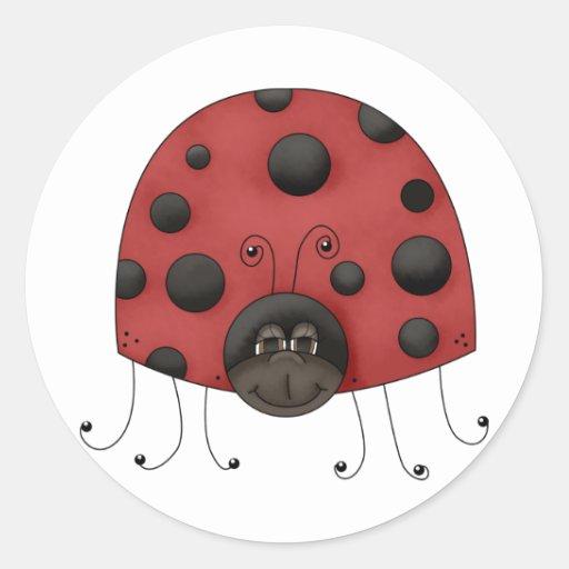 Buggin' You · Ladybug Round Sticker