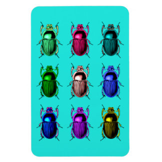 Bugging Out: Colorful Beetle Bugs Magnet