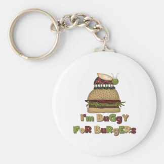 Buggy for Burgers Basic Round Button Key Ring