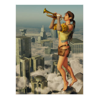 Bugle-call In Honor To The Sun. Poster