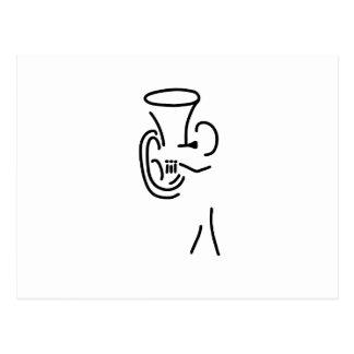 bugler tuba more blechblaeser postcard