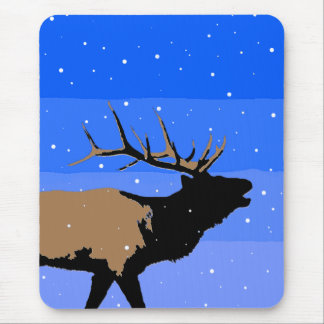 Bugling Elk in Winter Mouse Pad