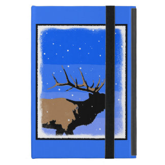 Bugling Elk in Winter  - Original Wildlife Art Case For iPad Mini