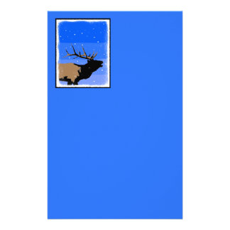 Bugling Elk in Winter Stationery