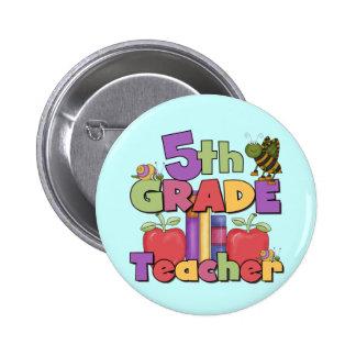 Bugs and Apples 5th Grade Teacher Pins