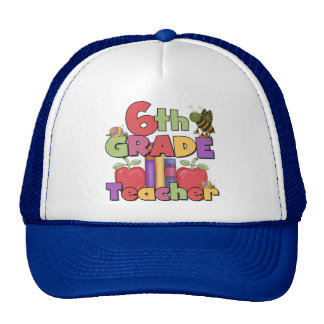 Bugs and Apples 6th Grade Teacher Cap