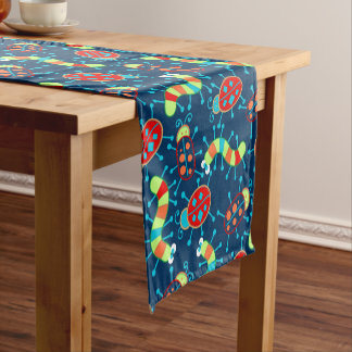 Bugs and beetles short table runner