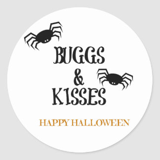 Bugs and Kisses Halloween Treat Labels
