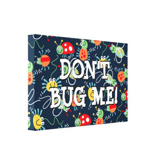 Bugs, bees and spiders canvas print