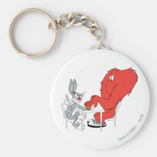 BUGS BUNNY™ and Gossamer 2 Basic Round Button Key Ring