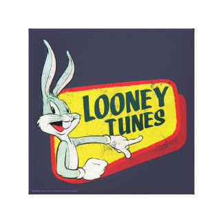 BUGS BUNNY™ LOONEY TUNES™ Retro Patch Canvas Print